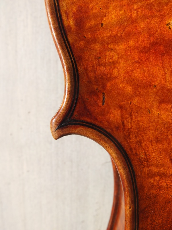 Back corner DMF violin